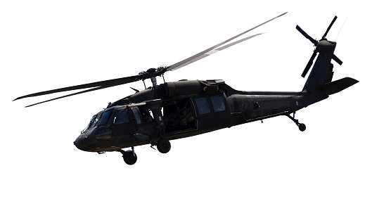 Helicopter「Close up of a black military helicopter」:スマホ壁紙(12)