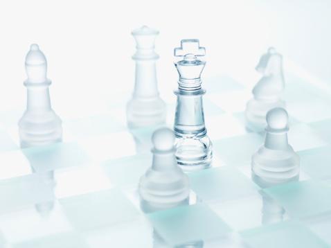 チェス「クローズアップのガラスチェス個」:スマホ壁紙(1)