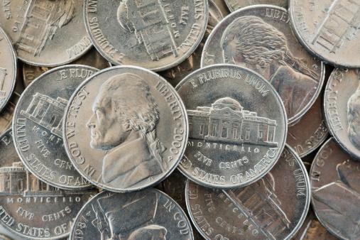 Male Likeness「Close up of US coins, studio shot」:スマホ壁紙(3)