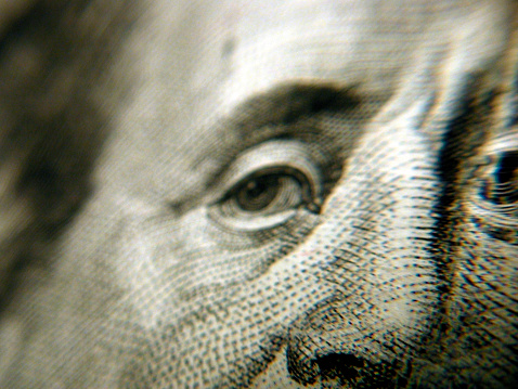 Politics「Close up of Benjamin Franklin's eyes and nose on currency」:スマホ壁紙(2)