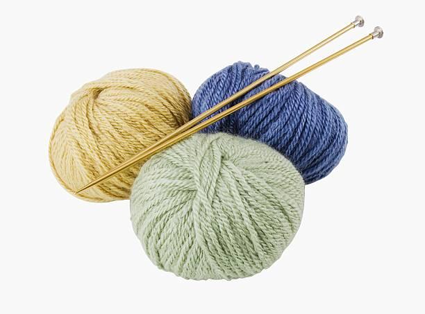 Close up of yarn and knitting needles:スマホ壁紙(壁紙.com)