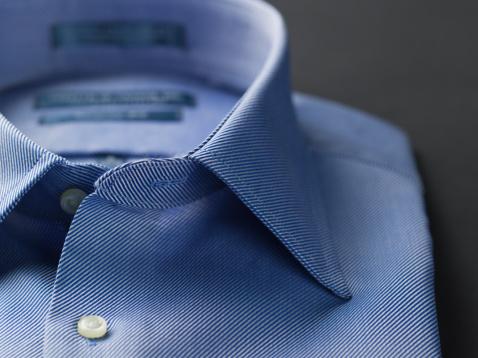 Well-dressed「Close up of a blue mens shirts」:スマホ壁紙(19)