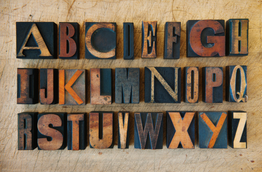 Alphabet「Close up of alphabet on letterpress」:スマホ壁紙(12)