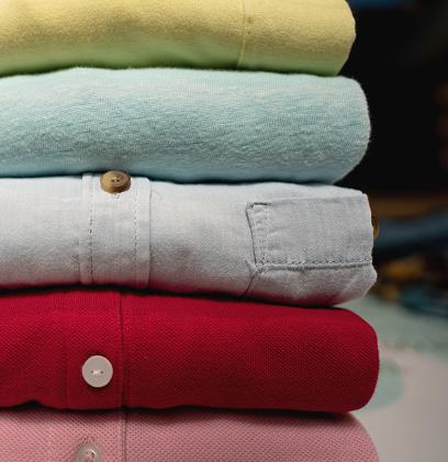 Laundry「Close up of folded shirts」:スマホ壁紙(15)