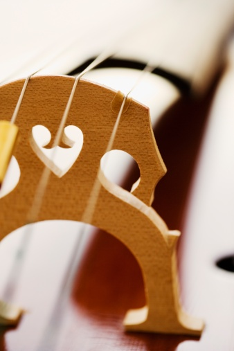 Violin「Close up of cello bridge」:スマホ壁紙(1)