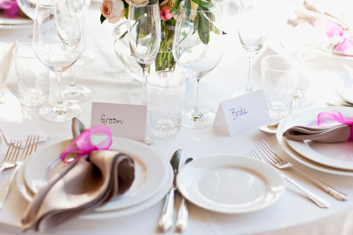 Wedding Reception「Close up of place setting at wedding reception」:スマホ壁紙(19)