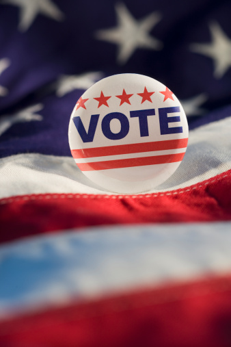 Election「Close up of Vote button on American flag」:スマホ壁紙(4)