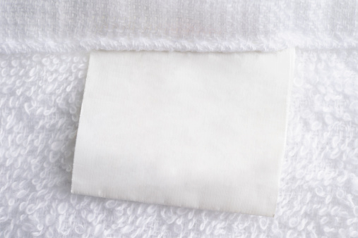 Cotton「Close up of white towel with blank label」:スマホ壁紙(13)