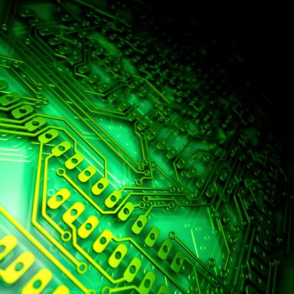 Mother Board「Close up of a green circuit board」:スマホ壁紙(4)
