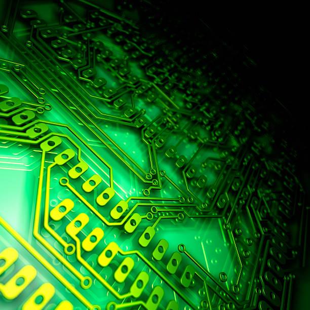 Close up of a green circuit board:スマホ壁紙(壁紙.com)