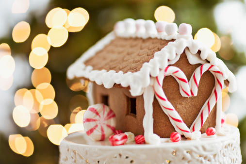 Gingerbread Cookie「Close up of gingerbread house」:スマホ壁紙(10)