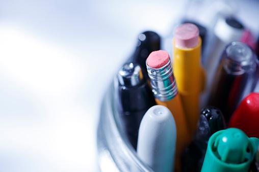 Pen「Close up of pens and pencils in a jar」:スマホ壁紙(19)