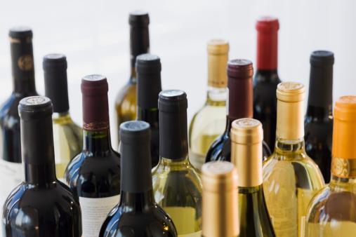 Wine Bottle「Close up of assorted wine bottles」:スマホ壁紙(0)
