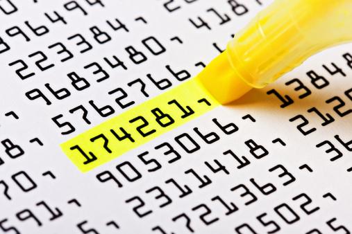 Choosing「Close up of highlighter marking one number on list」:スマホ壁紙(15)