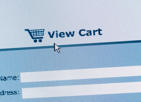 Online Shopping「Close up of online shopping cart」:スマホ壁紙(4)