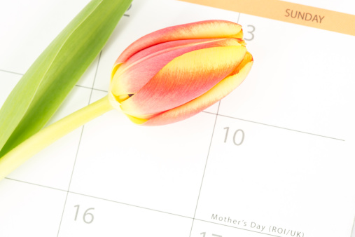 母の日「Close up of a beautiful tulip on a calendar marking mothers day」:スマホ壁紙(3)