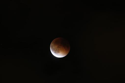 皆既月食「Super moon total lunar eclipse seen in Bloomington, Indina」:スマホ壁紙(19)