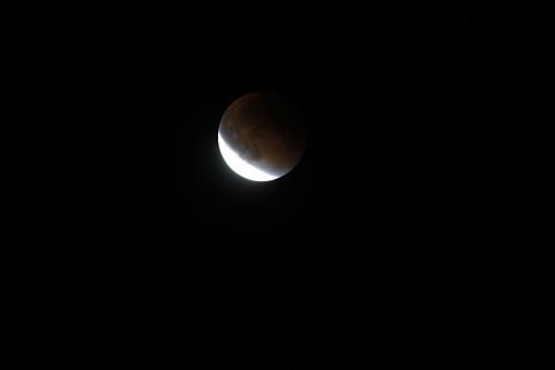皆既月食「Super moon total lunar eclipse seen in Bloomington, Indina」:スマホ壁紙(15)