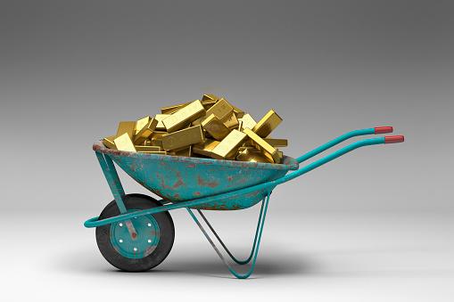 Pennies from Heaven「Rusty wheelbarrow full of gold bars」:スマホ壁紙(3)
