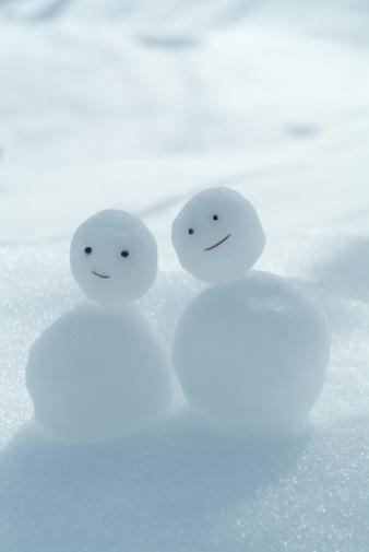雪だるま「Tiny snowmen」:スマホ壁紙(12)