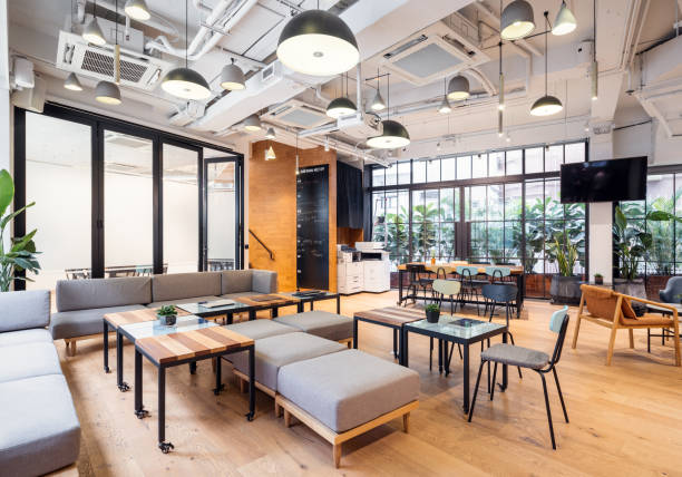Empty coworking space in Hong Kong:スマホ壁紙(壁紙.com)