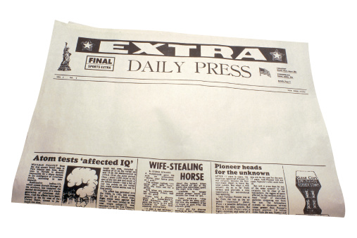 1990-1999「Newspaper with blank space for headlines」:スマホ壁紙(0)