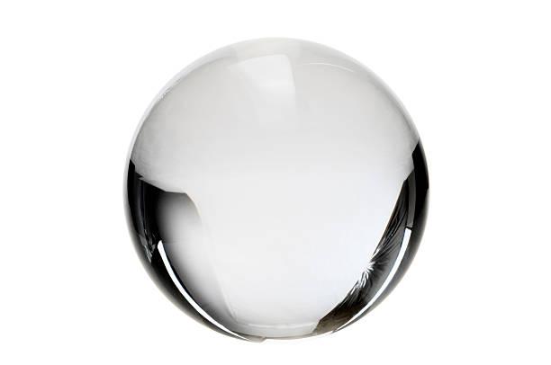 Clear crystal ball on a white background:スマホ壁紙(壁紙.com)