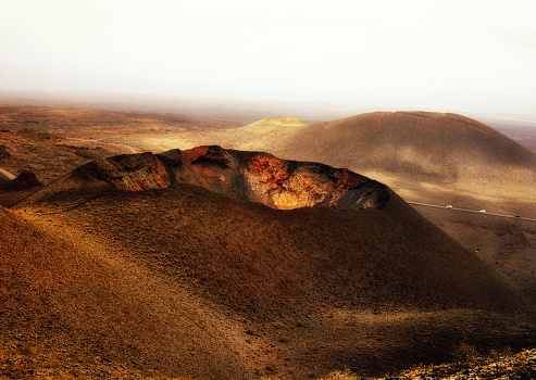 Volcano Islands「Volcano, Fire mountains, Timanfaya National Park, Lanzarote, Canary Islands, Spain」:スマホ壁紙(7)