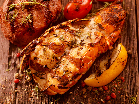 Thyme「BBQ Grilled Lobster Tail and Steak Fillet」:スマホ壁紙(3)