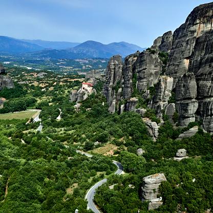 Trikkala「The Agios Nikolaos monastery in the Meteora site」:スマホ壁紙(10)
