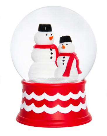 雪だるま「Snow-globes with snowmen」:スマホ壁紙(19)