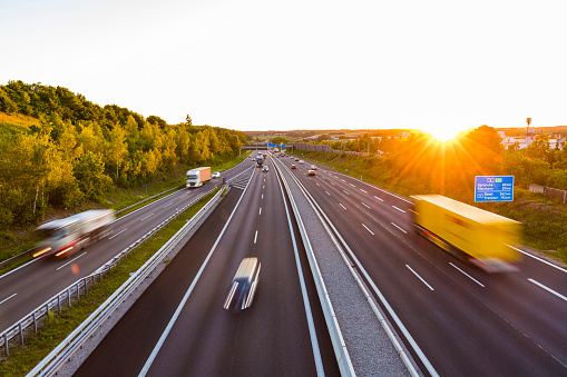 Passenger「View to a motorway at sunset, Leonberg, Germany」:スマホ壁紙(19)