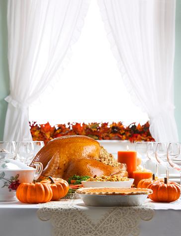 Stuffing - Food「Turkey As Centerpiece For A Thanksgiving Feast」:スマホ壁紙(7)