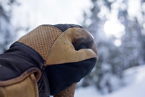 Ski Pole「Close up of ski glove on top of ski pole」:スマホ壁紙(17)