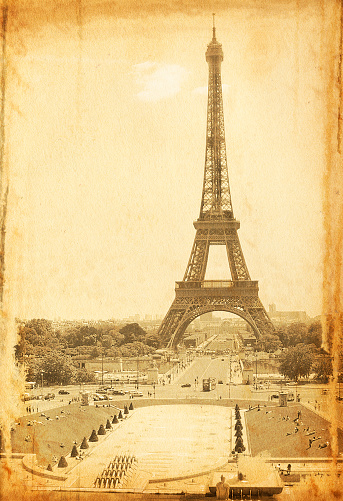 Auto Post Production Filter「Vintage Eiffel Tower Photo」:スマホ壁紙(7)