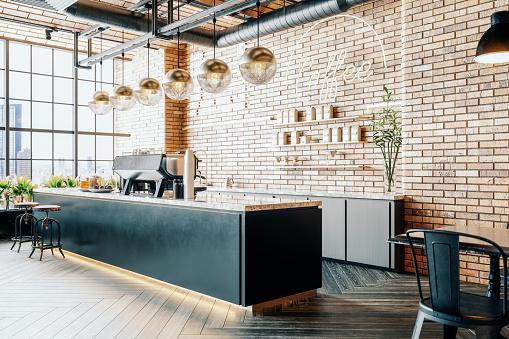 Copy Space「Third Wave Coffee Shop Interior」:スマホ壁紙(14)