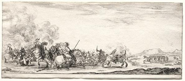 Etching「Cavalry Skirmish. Creator: Stefano Della Bella (Italian」:写真・画像(2)[壁紙.com]