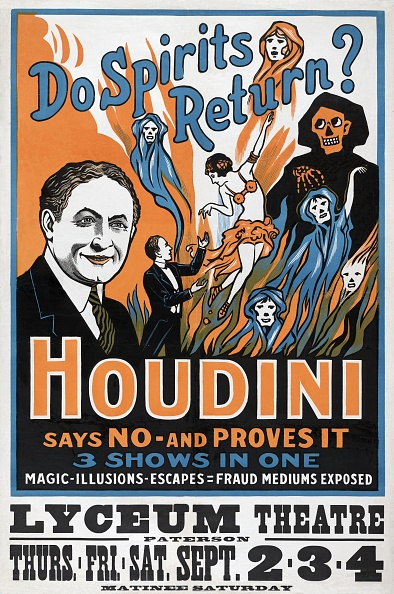 Chromolithograph「Do Spirits Return? Houdini Says No - And Proves It'」:写真・画像(17)[壁紙.com]
