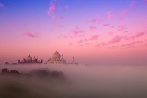 India「Mist and Taj Mahal」:スマホ壁紙(14)