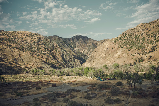 Tent「Campsite with mountains in Castaic, CA.」:スマホ壁紙(0)