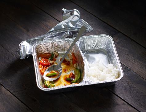 Basmati Rice「Half-eaten Chinese take out food」:スマホ壁紙(6)