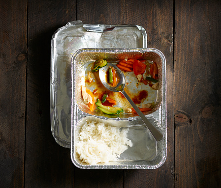 Basmati Rice「Half-eaten Chinese take out food」:スマホ壁紙(8)