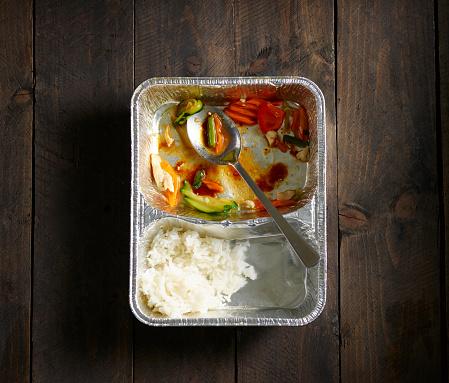 Basmati Rice「Half-eaten Chinese take out food」:スマホ壁紙(9)