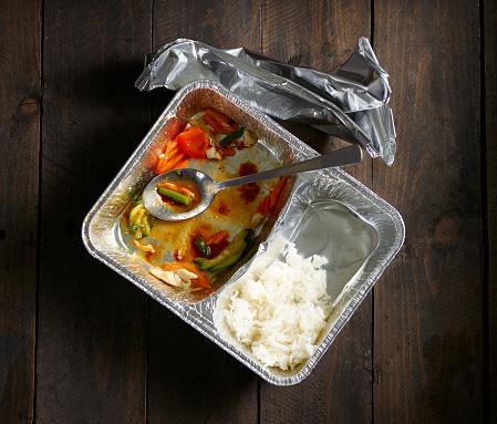 Basmati Rice「Half-eaten Chinese take out food」:スマホ壁紙(7)
