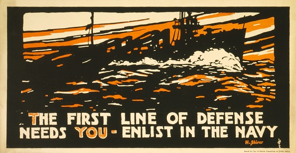 Chromolithograph「Ww1 Recruitment Poster For The Us Navy」:写真・画像(18)[壁紙.com]