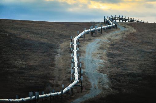 アラスカ「Trans-Alaska Pipeline System, (TAPS), Alaska, America, USA」:スマホ壁紙(13)