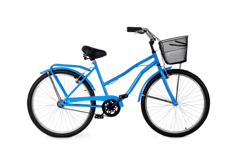 Side View「A blue bicycle on a white background 」:スマホ壁紙(4)