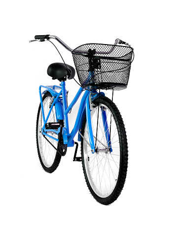 Training Equipment「Blue bicycle isolated on white background」:スマホ壁紙(2)