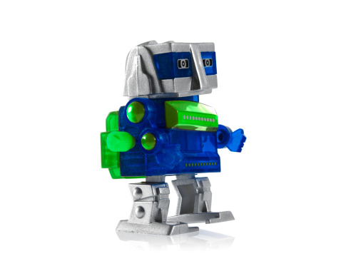 人の姿「Toy robot on white background」:スマホ壁紙(10)