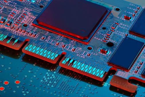 CPU「Electronics circuit board with CPU」:スマホ壁紙(9)